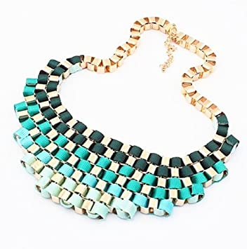 Wholesale Chunky Fashion Necklaces Exaggerated Chunky Bib
