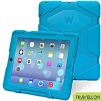 Thinking Summer Newest Ipad 2 3 4 Case Winpartner Travellor A41 Non Toxic Eva Case Super 3d Protect Military-duty Case with Stand Holder Shell Cover Case Rainproof Sandproof Dirtproof Shockproof for Apple New Ipad,ipad 4 Ipad 3 Ipad 2 (blue) from THINKING