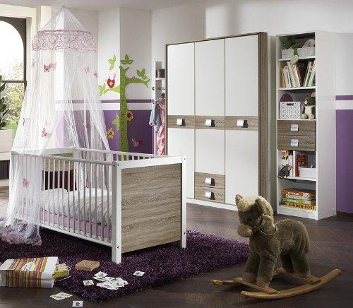 Babyzimmer »EMMA« 4-tlg in alpinweiß - Eiche Dekor