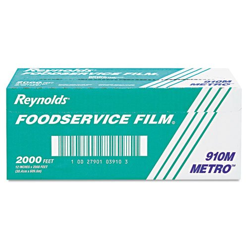 """Reynolds Wrap Metro Light-Duty Film with Cutter Box, 12"""" x 2000 ft. - one box of plastic food wrap."""