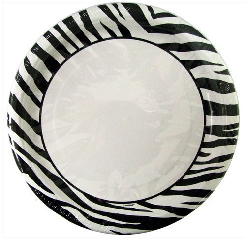 Zebra Stripes Large Paper Plates (10ct)