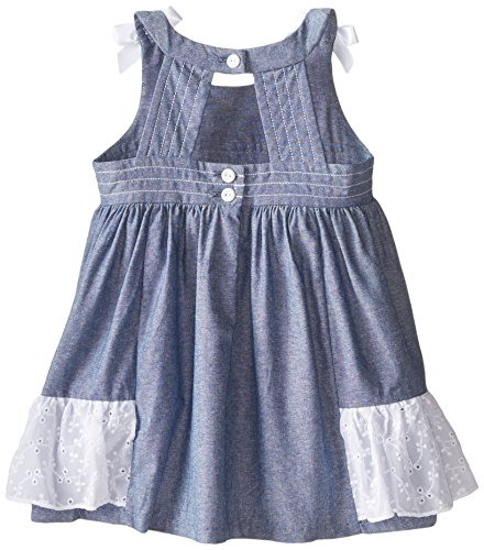 Bonnie baby baby girls 39 chambray eyelet dress blue 24 for Cuisine you chambray