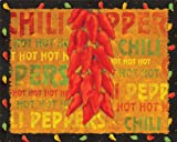 Microthin Products Magic Slice Non-Slip Flexible Cutting Board by Brent, 12 by 15-Inch, Chili Peppers