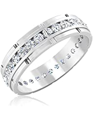 IskiUski Stela Exclusive Engagement Ring 14K White Gold Plated Silver Ring For Women And Girls