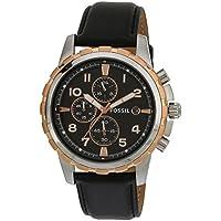 Fossil Dean Chronograph Analog Black Dial Men's Watch - FS4545