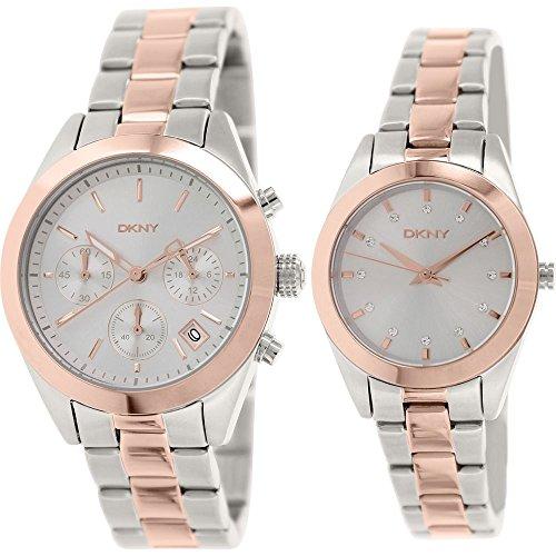 Reloj DKNY para mujer hombre y juego de reloj analógico de pulsera de cuarzo acero inoxidable NY2270