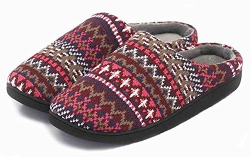 unisex-slip-on-slippers-happy-lily-antislip-sandal-memory-foam-mules-knittedfleece-shoes-vintage-boh
