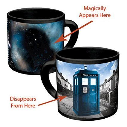 Magic 450ml Heat Sensitive Color Changing Doctor Who Mug Disappearing Tardis