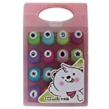 Shopaholic Cute Set Of 16 Paper Punches With A Box- DIY Paper Shaper For Card Making/Scrapbooking- (Small Pink...