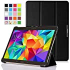 MoKo Samsung Galaxy Tab S 10.5 Case - Ultra Slim Lightweight Smart-shell Stand Cover Case for Samsung Galaxy Tab S 10.5 Inch Android Tablet, BLACK (With Smart Cover Auto Wake / Sleep)