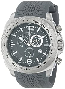 "Swiss Legend Men's ""Sprinter"" Stainless Steel and Gray Silicone Gray Dial Watch"
