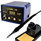 Sigma 60D Lead-Free 60 Watt SMD Soldering Station Real-time LED Display - Features Celsius / Fahrenheit Temperature, Digital Calibration, Extra Plug-in Iron Heating Element, with 6 Iron Tips, Anti-Static Wrist Strap, Desoldering Pump and 50g Solder. 60D