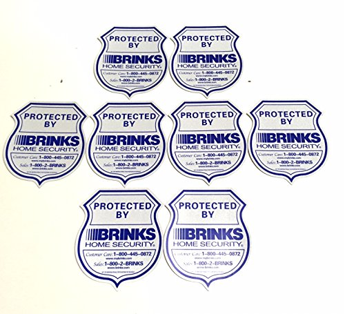 Sale!! 8 Authentic Home Security 3M Reflective Window Stickers