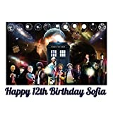 Doctor Who Tardis Edible Image Photo Sugar Frosting Icing Cake Topper Sheet Personalized Custom Customized Birthday Party - 1/4 Sheet - 74716