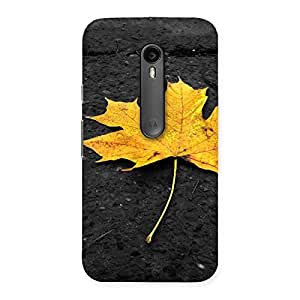 Special Yellow Lovely Leaf Back Case Cover for Moto G Turbo