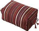 エムール そばがら 高さが調整できる ごろ寝枕 25×18×8~12cm 日本製 エンジ