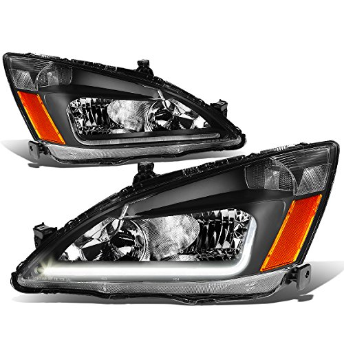 DNA Motoring HL-LB-HA03-BK-AB Headlight Assembly, Driver and Passenger Side (2003 Honda Accord Ex Bumper Cover compare prices)