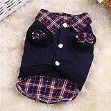ROOMZOOM Vogue Pet Dog Shirt Winter Warm Clothes Sweater Costume Jacket Coat Apparel Dark blue-M