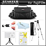 Accessories Kit For Fuji Fujifilm FinePix SL300, S8200 S8300 S8400 S8500, S9800 S9900W SL1000, HS50EXR, X100S, X20, X-M1, X-E2, S8600, S9200, S9400W, S1, X-T1, X30 Digital Camera, Case + Tripod + More