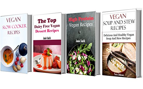 Vegan Recipe Box Set: Four of The Best Vegan Cookbooks In One (Vegan Recipes) by Jamie Smith, Terry Adams