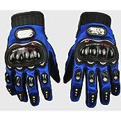 Leebo Pro Biker Bike Riding Full Gloves (Size L ,Colour Blue) For KTM Duke 200