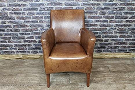 VINTAGE STYLE LEATHER ARMCHAIR - THE KEMPTON