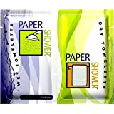 Paper Shower-Fresh, 12 Body Wipe Packs (A Wet And Dry Towel In Each Pack) Per Order **On Sale**