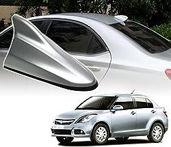 Auto Pearl - Premium Quality Silver Shark Fin Replacement Signal Receiver Antenna For - Maruti Suzuki Swift Dzire New Model