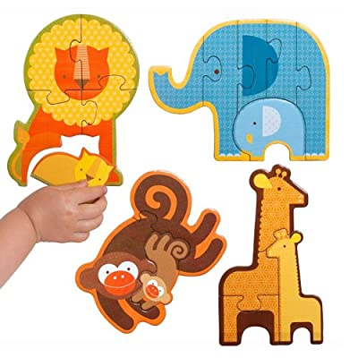 Petit Collage Beginner Puzzle, Safari Babies