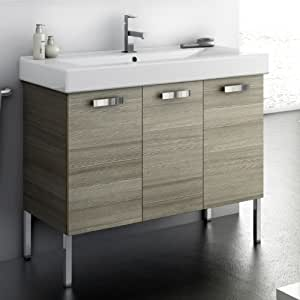 Acf 40 inch vanity cabinet with fitted sink c16 for 40 inch kitchen cabinets