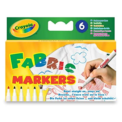 Crayola 6 Fabric Markers
