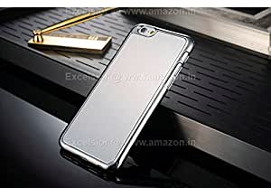 Excelsior Premium Chrome Plated Brushed Back Cover Case iPhone 6 Plus 5.5 inch (Silver)