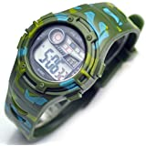 Kids Electronic Watch Camouflage Meter Boy and Girl's Series Waterproof Spreadsheet Sport Watches for Children