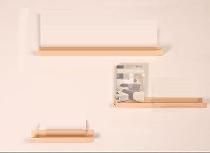 Estante, Palabra Nórdica Tabique En la pared Estante de madera maciza Estante del gabinete de TV Pared de fondo Estantería creativa living Wall hanging ( Color : #1 )