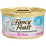 Fancy Feast Wet Cat Food, Kitten, Tender Ocean Whitefish Feast, 3-Ounce Can, Pack of 24
