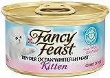 Purina Fancy Feast Wet Cat Food, Kitten, Tender Ocean Whitefish Feast, 3-Ounce Can, Pack of 24