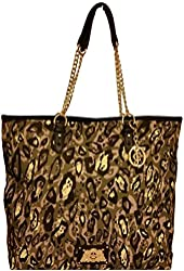 Juicy Couture Green Black Weekend Warrior Chain Handle Tote