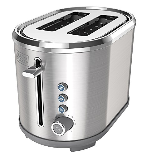 BLACK+DECKER TR2300SD 2-Slice Extra Wide Slot Toaster, Bagel Toaster, Stainless Steel