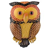 Yahoho Women's Cute Owl Genuine Leather Purse Wristlet Wallet Handbag Brown Christmax Gift