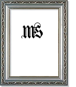 Imperial Frames 5 by 7-Inch/7 by 5-Inch Picture/Photo Frame, Silver with Floral Design