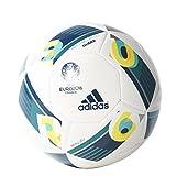 adidas Herren Ball EURO 2016 Glider, White/Eqt Green/Mineral, 5, AX7354