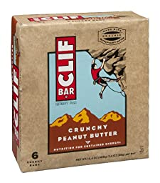 Clif Bar Crunchy Peanut Butter Energy Bar, 6 Count [Pack of 3]