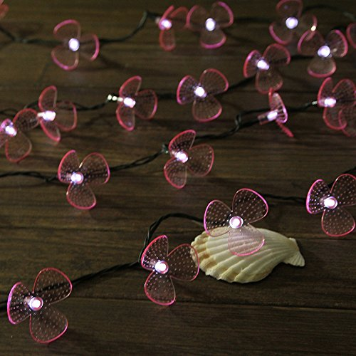 Innoo Tech 30 Led Battery Operated Christmas String Lights White Orchids Flower Fairy Lights For Christmas