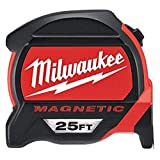 Milwaukee 48-22-0125 Heavy Duty 25 Foot Magnetic Tap (12 Pack)