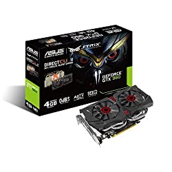 ASUS Strix GeForce GTX 960 Graphic Card Cool Silent Gaming Experience STRIX-GTX960-DC2-4GD5