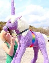 3-feet-tall Giant Stuffed Unicorn - Big and Beautiful Stuffed Animal Plush Toy - 3 Feet Tall and 3 F