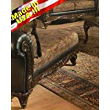 San Marino 2-Tone Chocolate Microfiber Chaise, Made in USA