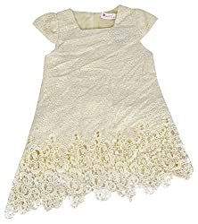 Party Princess Girls' Party Dress (833005-2/3, Beige, 2-3 Years)