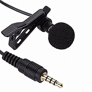 Unetox Lavalier Microphone Clip-on Lapel Omnidirectional Condenser Mic for iPhone iPad iPod Touch Samsung Android and Windows Smartphones Interviews V