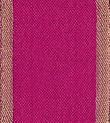 Entertaining With Caspari Wired Ribbon, Raw Silk, Fuchsia front-1017273